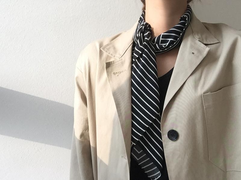 패턴 scarf